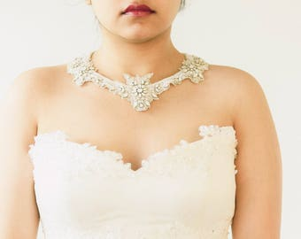 Statement Necklace Wedding, Bridal Statement Necklace, Necklace for Bride, Jewelry- Style R110