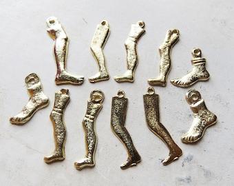 11 Milagros legs and feet Milagro Gold Tone