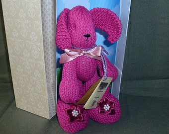 On SALE!  Cotton Critter - Pink- with ankle strap baby shoes
