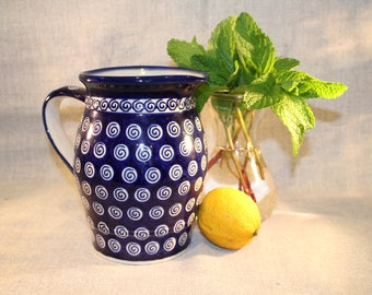 Boleslawiec Polish Pottery, Pitcher, Handmade