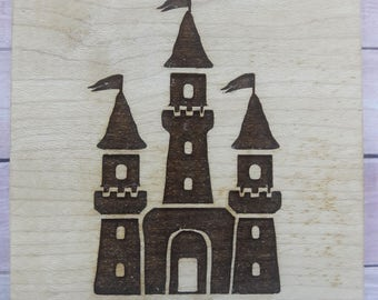 Fairytale Castle Wood Mounted Rubber Stamp Scrapbooking & Paper Craft Supplies