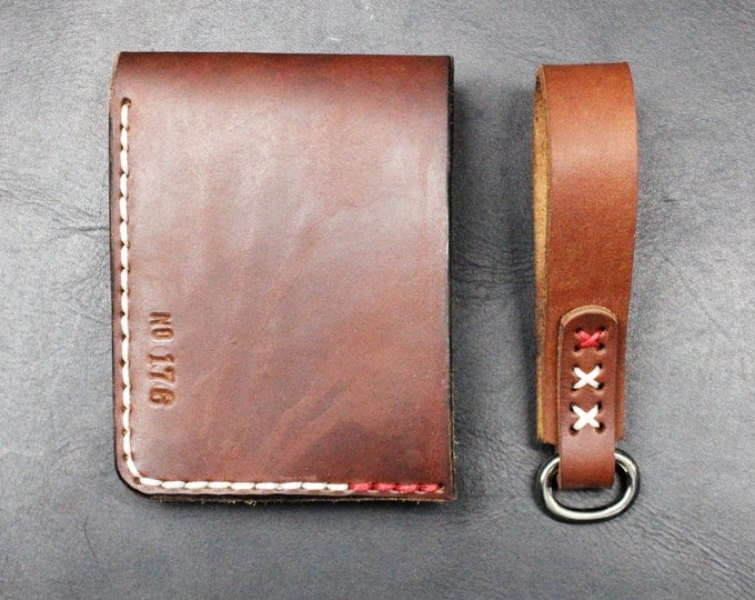 WALLET and keychains leather accessories GIFT set