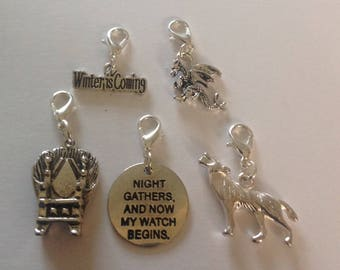 Game if thrones  inspired charms / zip clips