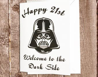 Star Wars Birthday Card (choose your age)