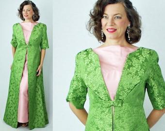 Evening Coat / Formal Coat / Opera Coat / Brocade Coat / Long Coat / Full Length Coat / Dress Coat / Over Coat / 1950s Coat / 50s Coat