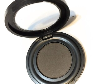 STEELHEART Matte CHARCOAL Gray Pressed Mineral Natural Eye Brow Powder - Organic Gluten Free Vegan Makeup