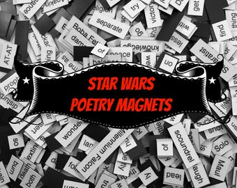 Star Wars Refrigerator Magnets, Poetry Word Magnets, Free Gift Wrap