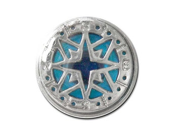 True North Compass Snap Charm Fits 18-20mm Ginger Snaps, Noosa, Magnolia & Vine, Others