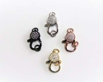 CZ Micro Pave 9x20mm Lobster Clasp