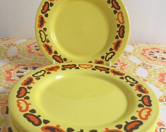 2 Retro 70's Staffordshire Pottery - side plates