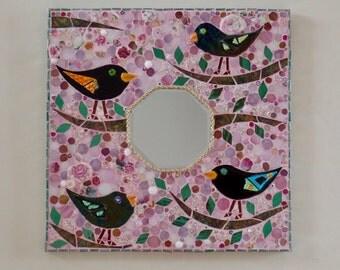 Birds in an Cherry Blossom Tree