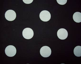 White on Black Polka Dots