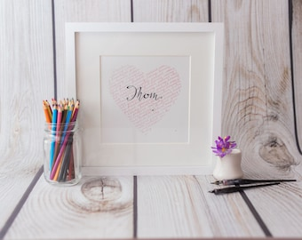 Calligraphy Heart/Mother's Day Wall Hanging