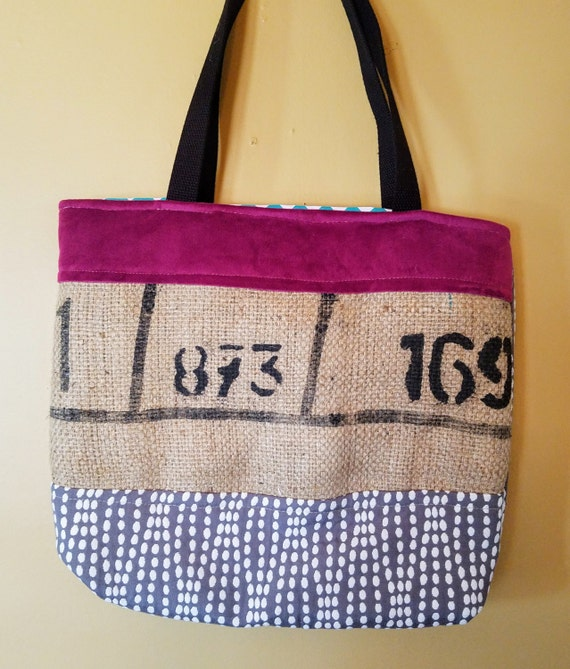 Upcycled  Coffee Bag Market Tote
