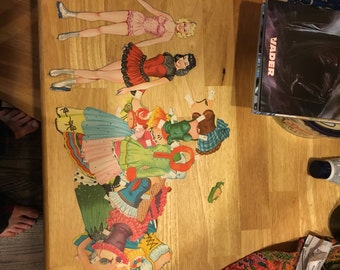 1950 paper dolls and clothes