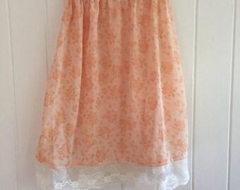 Girls vintage floral boho skirt