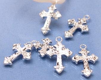 40 pcs Holy Cross Favor Charms