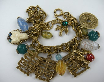 Loaded 1950's Napier-Style Charm Bracelet