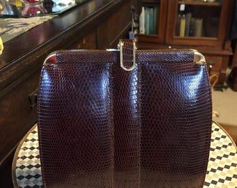 Vintage Lizard Purse/Harrods London Lizard Purse/Deadstock Lizard Clutch/New Old Lizard Handbag/Real Lizard Purse/Lizard Pocketbook