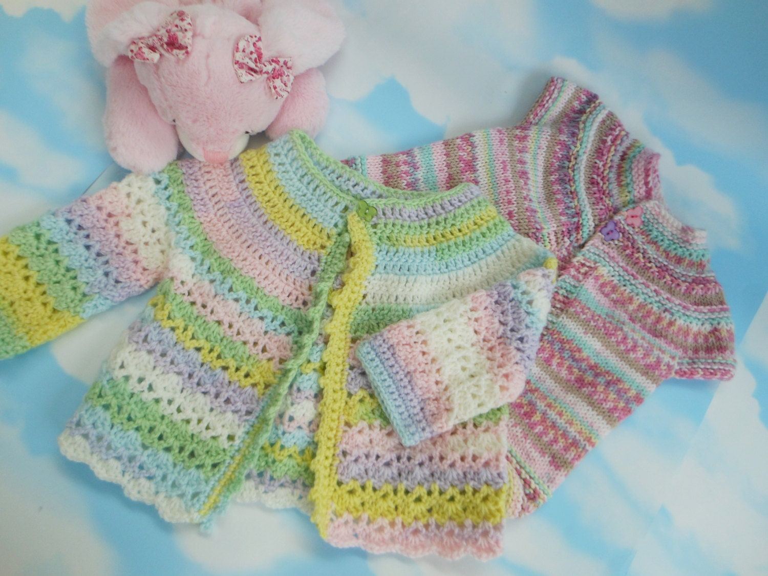 Knitted baby girl clothes girls clothes by