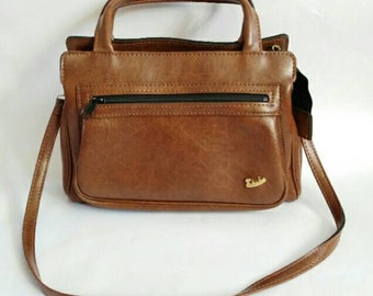 Paludas 1970's vintage bag brown bag leather bag top handle bag shoulder bag ladies bag brown