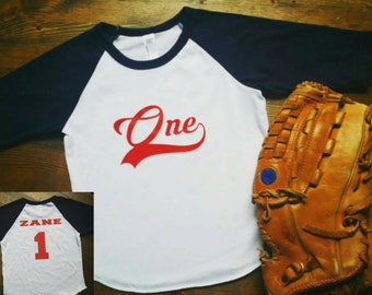 Baseball Birthday Shirt - 1st Birthday Basseball Shirt - Baseball Party - Sports Birthday - Baseball Birthday Outfit - Boys Birthday Shirt