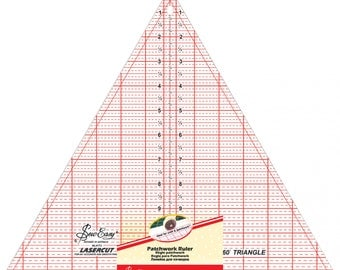 60-degree Triangle Ruler, 60-degree ruler - by Tacony Sew Easy - 12-Inch Acrylic