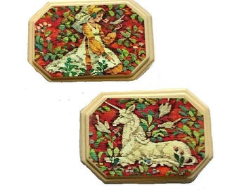 Medieval UNICORN SOAP Gift Set AVON Maiden Princess Unused Vintage Tapestry Soaps Game of Thrones Outlander Woodland Forest Fantasy Gift Her