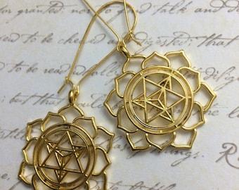 Sacred geometry earrings, seed of life, flower of life