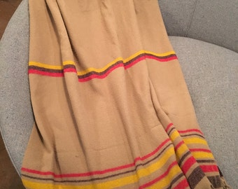 Vintage Striped Throw