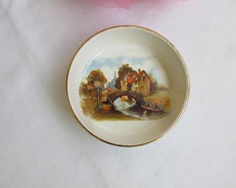 "Bowl - Mini - Sandland Ware - China - ""The Jolly Boatman"" - English - Vintage"