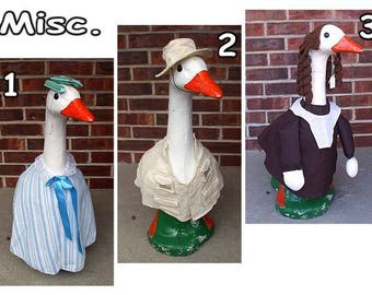 "Large Lawn Goose (23"" - 25"" Tall) Outfits"