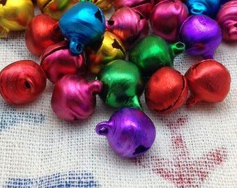 300pcs 12mm asorted color small bells,pet bells,dog bells,Christmas bells,pendant bells,DIY bell,jingle bell