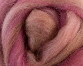 4 oz  Blusher Extra Fine Merino Wool Top (roving). - Sugar Candies Collection -  Great for Spinning and Felting
