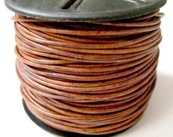 Light Brown 1.5 mm Leather Cord SELECT LENGTH