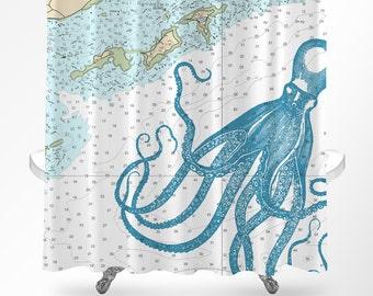 Octopus Bathroom Bath Mat Bath Rug Nautical Bath Rug