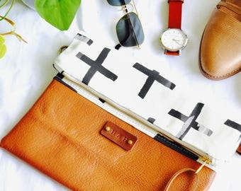 Personalised Gift- Monogram - Initials on your Bag - Personalised Clutch - Handmade in Australia