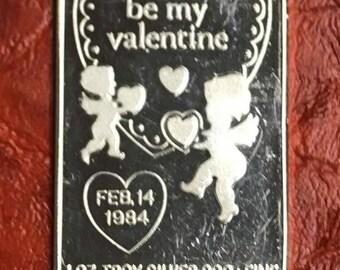 1984 Be my valetine art bar