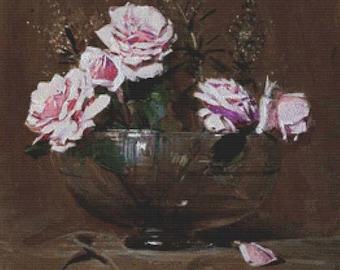 Roses PDF Cross Stitch Pattern