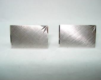 Sterling Silver CuffLinks Fancy Etched Design