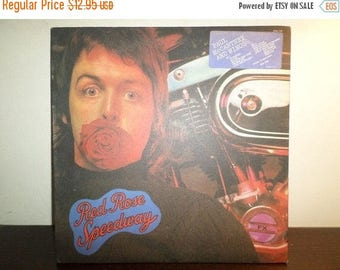 Save 30% Today Vintage 1973 Record Red Rose Speedway Paul McCartney and Wings with 12 Page Insert Booklet Very Good 8530