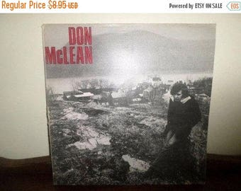 Save 30% Today Vintage 1972 LP Record Don McLean Self Titled Excellent Condition United Artists 4288