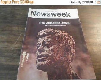 Save 25% Now Vintage October 5 1964 Newsweek Magazine The Assassination The Warren Commission Report Excellent Condition