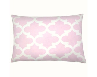 Cushion cover Bob pink white 40 x 80 cm grid graphically