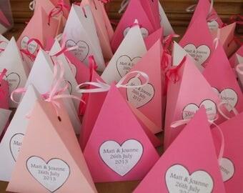 10 - Confetti  filled Boxes/Cones Wedding