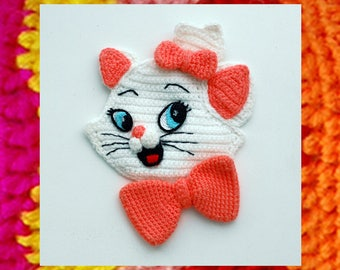Crochet Pattern. Applique. Kitten Marie (AristoCats). DIY