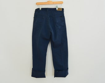 Vintage Genuine Roebucks Indigo Jeans/Work Pants 33/30 Scovill Zipper 80's Era Perma-PrestTag Sears Roebucks and Co