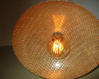 Repurposed Fiberglass bowl/Hanging Light
