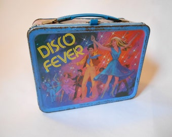 Vintage 1980 Disco Fever Lunch Box - King Seeley Thermos Co 70s Retro