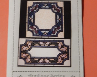 Stained Glass Table Centers applique pattern from Joan's Own Creations Uncut